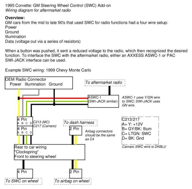 gm4306 2005 chevrolet steering column wiring diagram