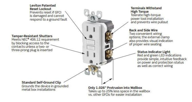 hd8067 an electrical gfci outlet wiring also gfci wiring