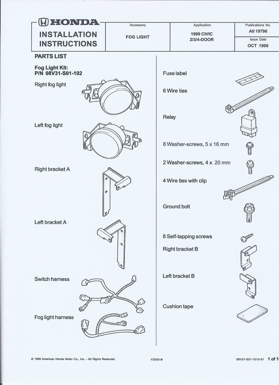 Rally 3155 Dual Driving Fog Light Set Wiring Diagram