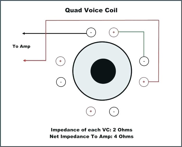 Dual Voice Coil 2 Ohm Wiring Diagram : Pin On Wiring