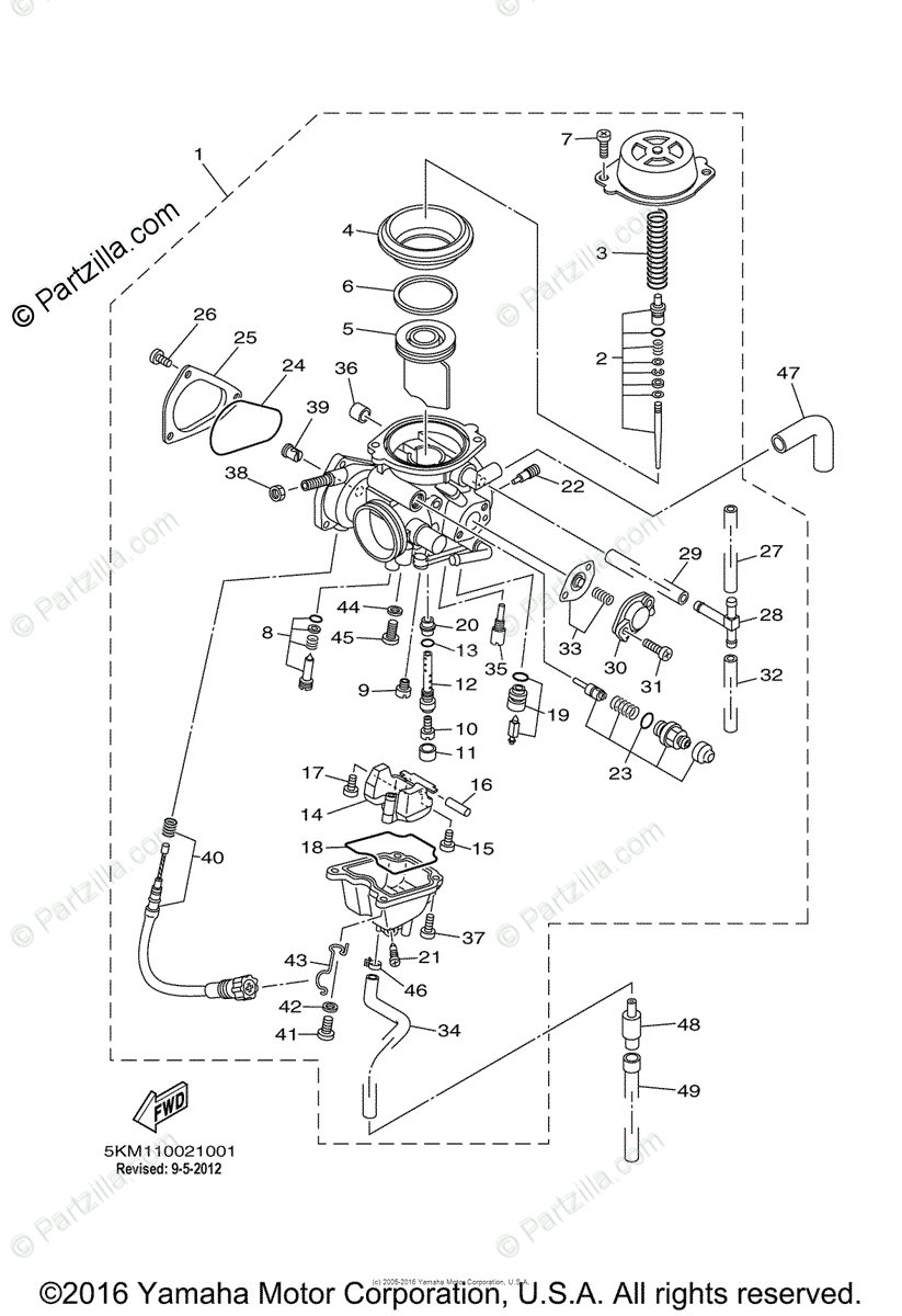 Yamaha Grizzly 4X4 Wiring Diagram / 660 Grizzly 4wd Wiring