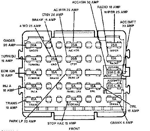 1989 Silverado Wiring Diagram / Diagram 1989 Chevy 1500