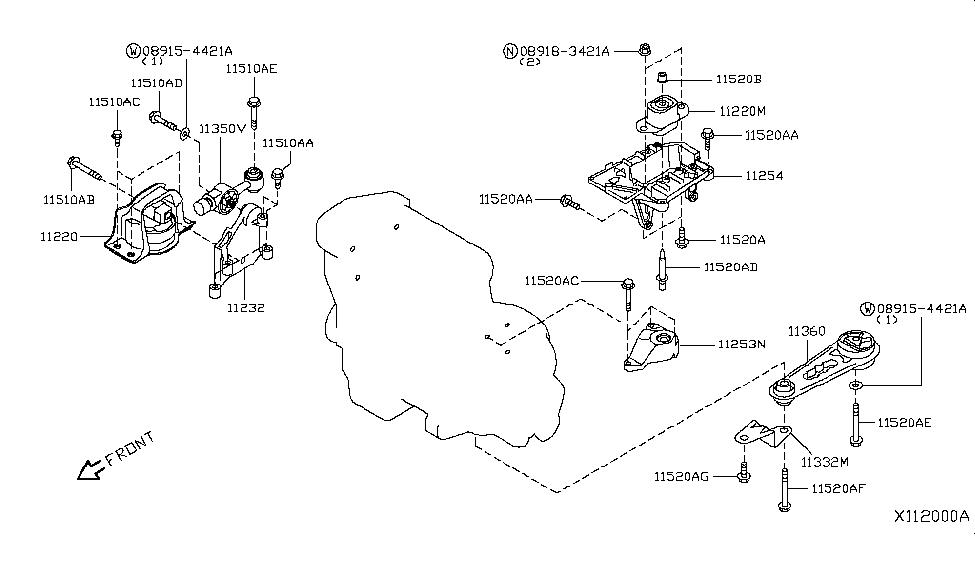 [OC_6067] 2010 Nissan Murano Drivetrain Diagram Schematic