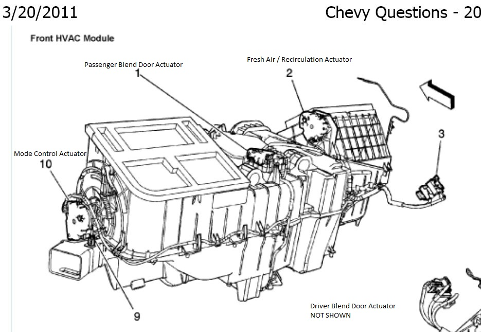 [MS_0446] Chevy Silverado Blend Door Actuator Schematic Wiring