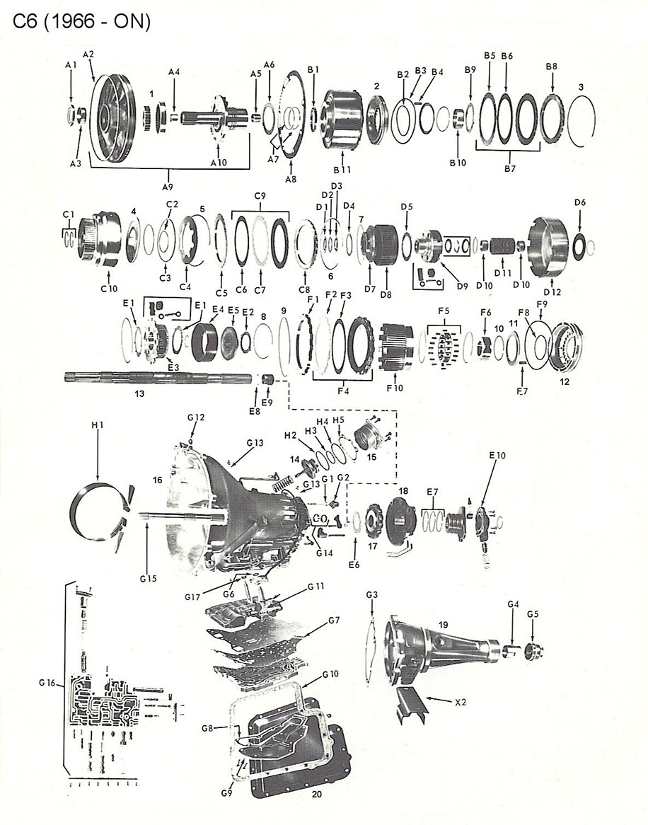 [DK_0259] Ford C6 Transmission Parts Diagram Download Diagram