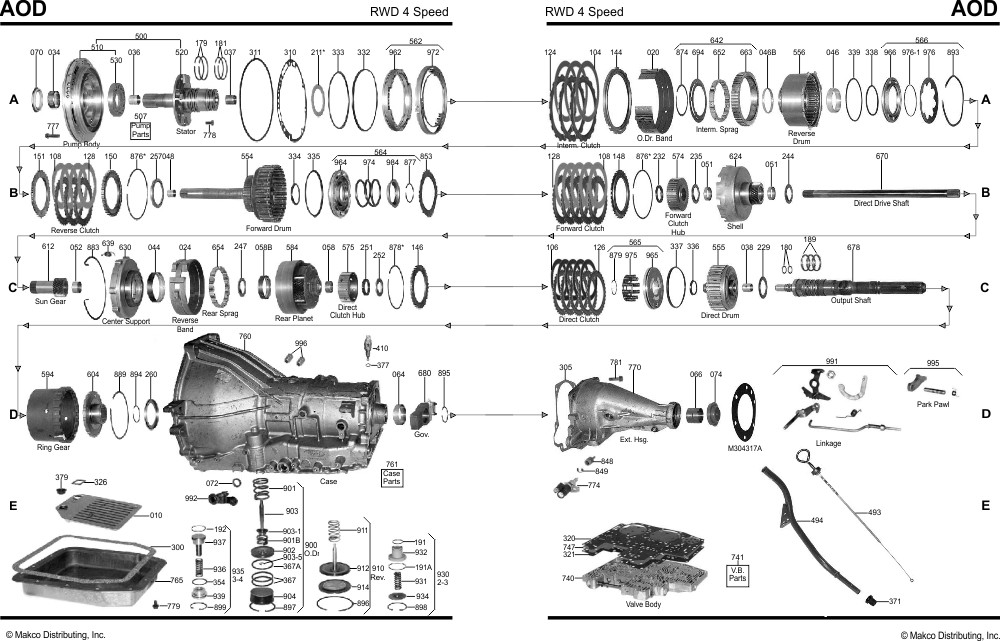 [DK_0259] Ford C6 Transmission Parts Diagram Download Diagram