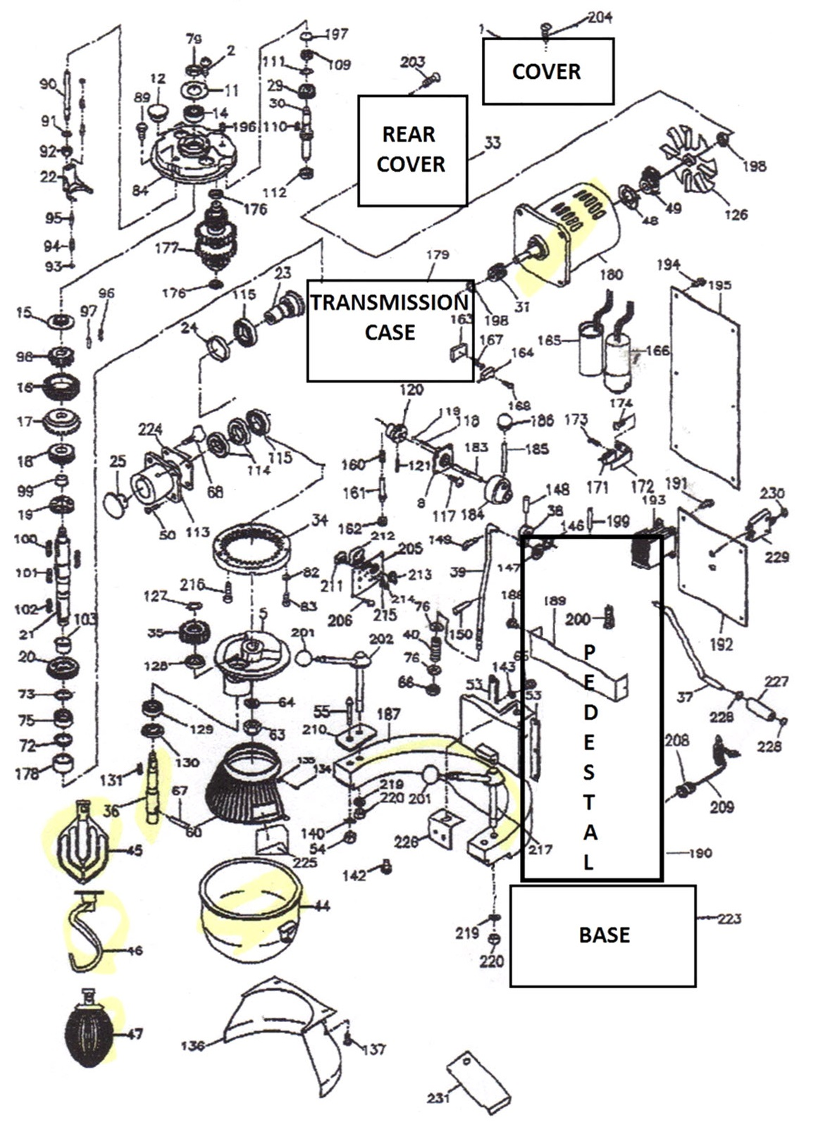 [MD_1595] Thunderbird Mixer Wiring Diagram Free Diagram