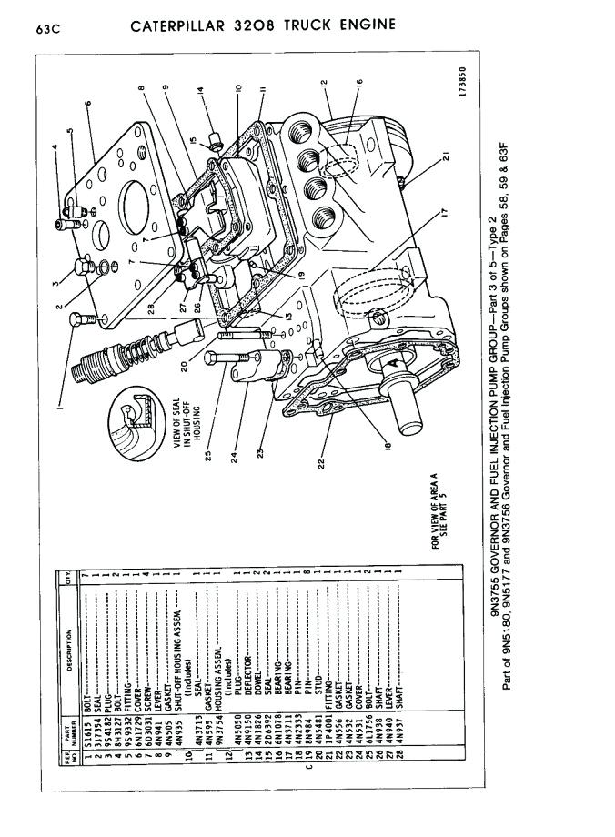 [WG_4955] Cat Engine Fuel System Besides Cat 3406E Ecm