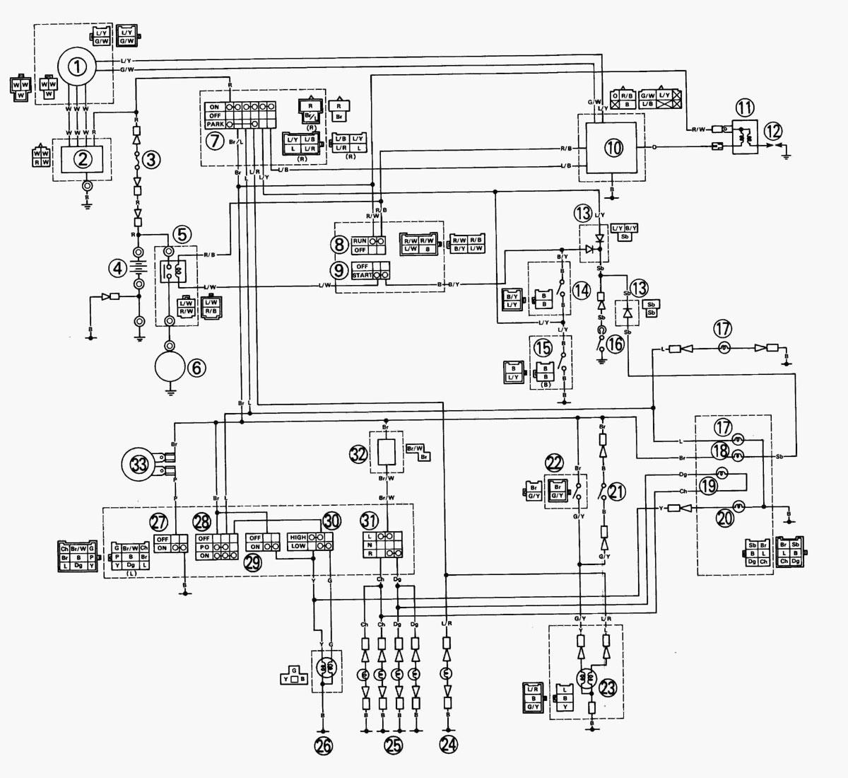 Yamaha Xt 600 89 Wiring Diagram