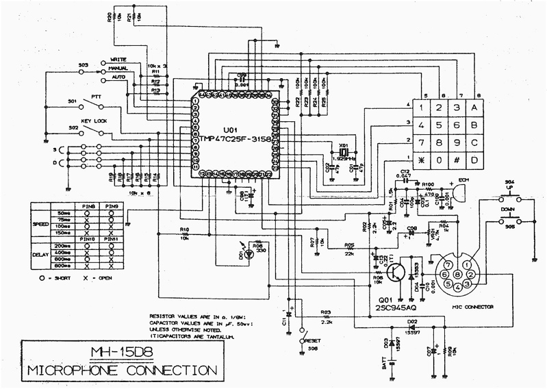 [TH_9468] Power Supply Schematic Diagram Also Yaesu Md 100