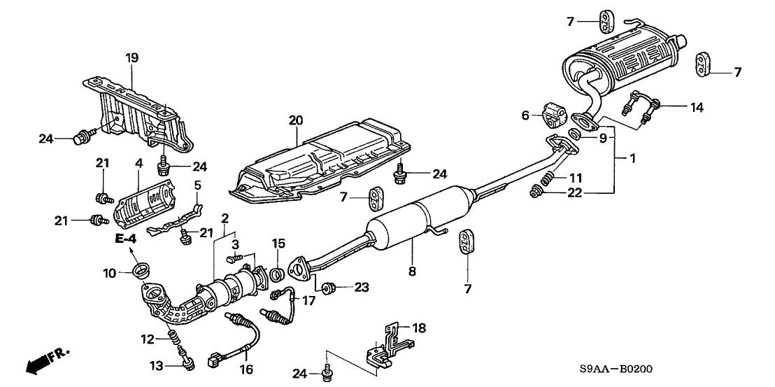 [GA_0623] Honda Cr V Exhaust System Diagram Free Diagram