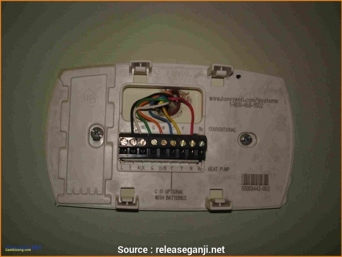 honeywell digital thermostat wiring diagram for th3110d1008