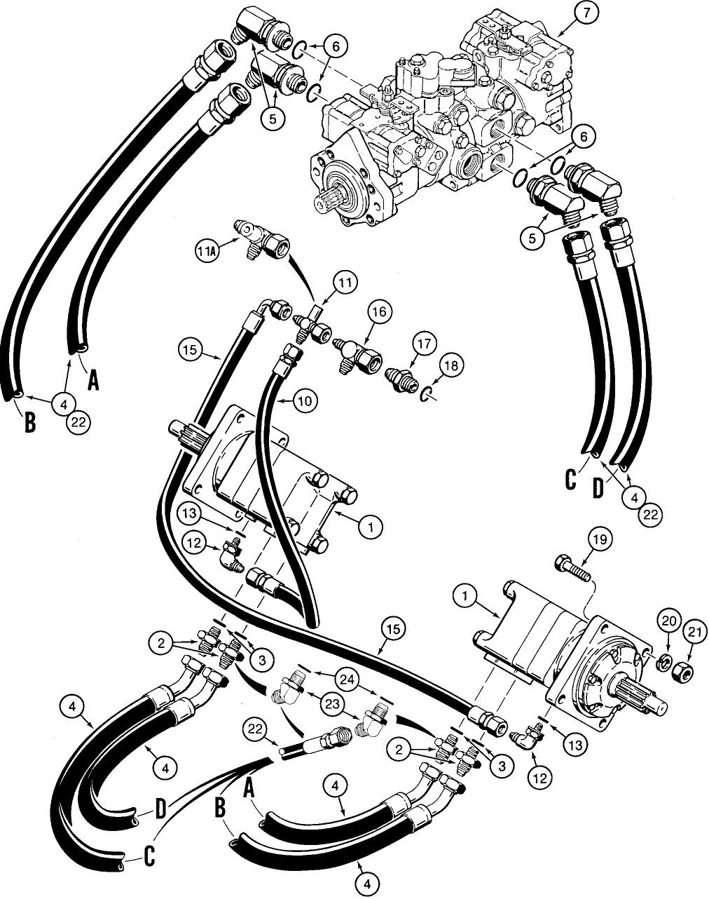[EX_2129] Case 1840 Skid Steer Hydraulic System Diagram On