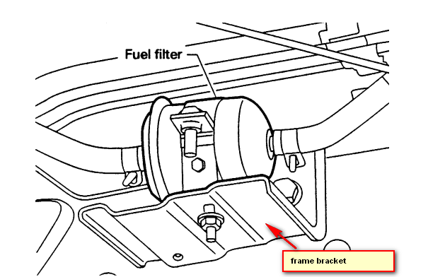 2005 Nissan Altima Fuel Filter Location : Diagram 1998