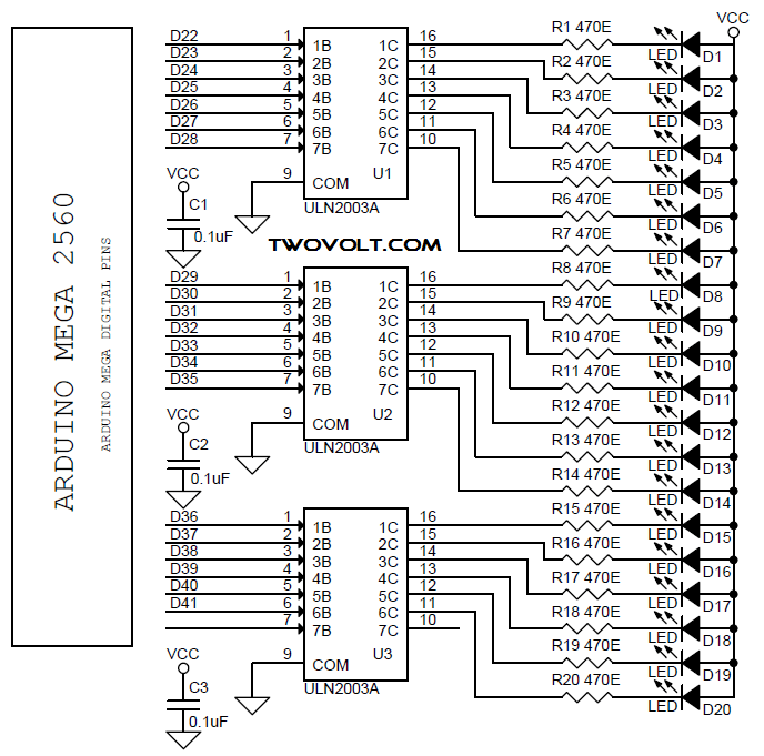 [TY_1759] Dual Power Supply Circuit Arduino Mega 2560