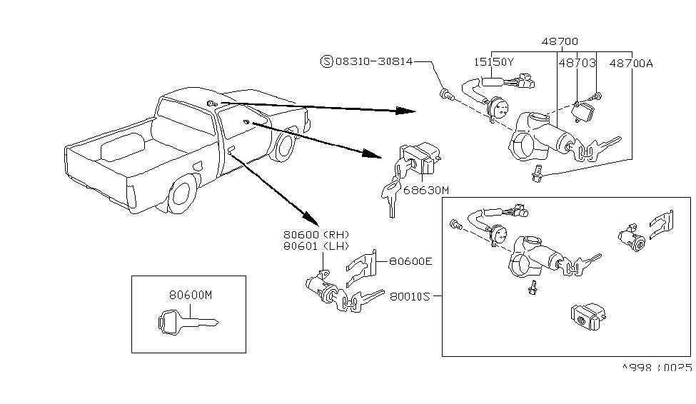 [MS_8975] 1992 Nissan Pickup Parts Download Diagram