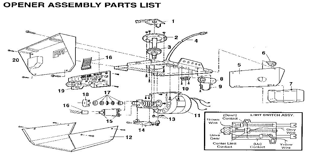 Sears Garage Door Opener Wiring Diagram Database