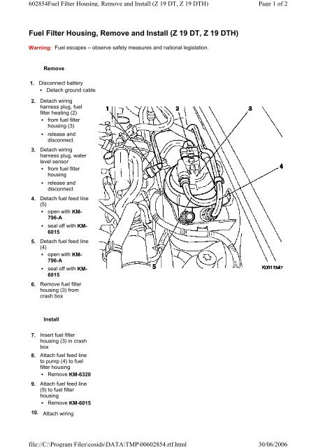 [ME_3194] Fram Fuel Filter Assembly Schematic Wiring