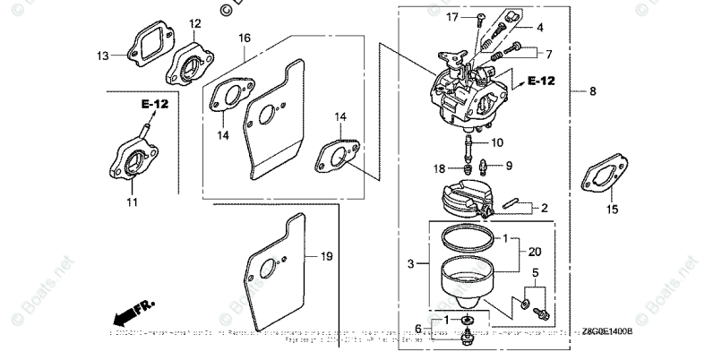 Honda Lawn Mower Carburetor Parts Diagram