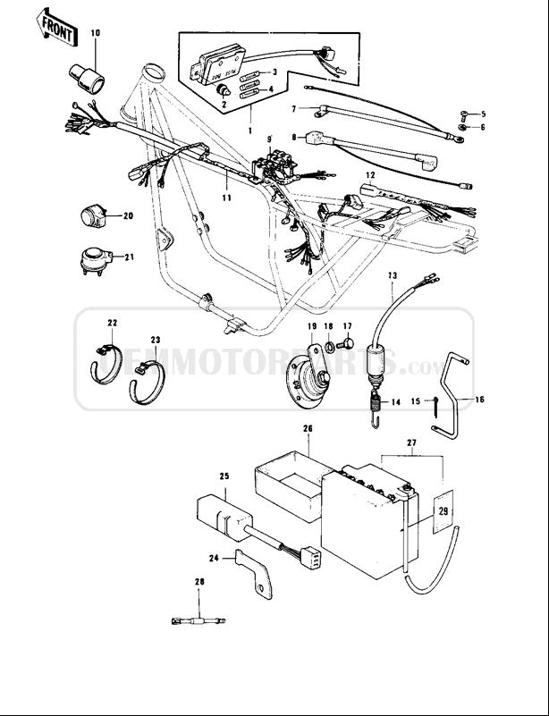[WR_1791] 77 Kawasaki Kz1000 Wiring Diagram Download Diagram