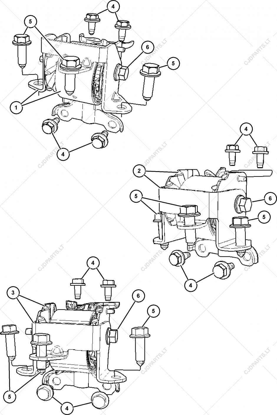 [EV_5622] 2007 Dodge Caliber Engine Mounts Diagram