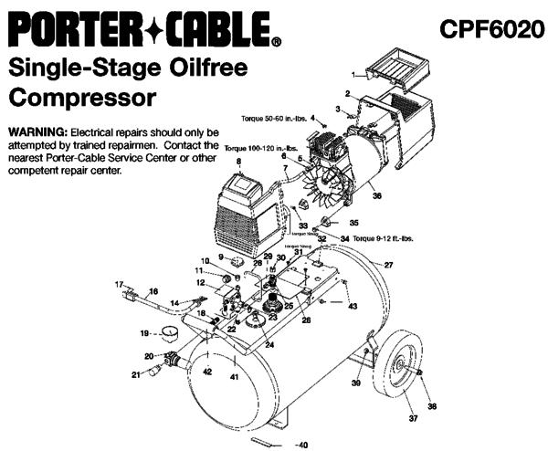 [YL_6592] Porter Cable Compressor Wiring Diagram Schematic