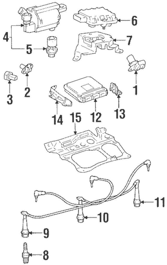 [YW_3545] 2000 Lexus Es300 Knock Sensor Location Schematic