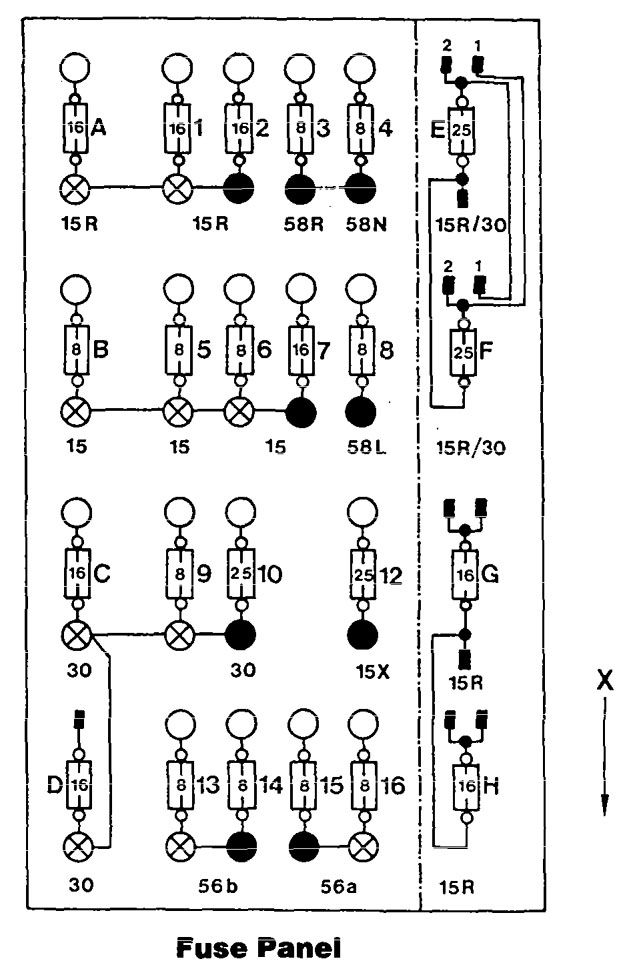 [XV_0031] Mercedes W124 Fuse Box Diagram Free Diagram