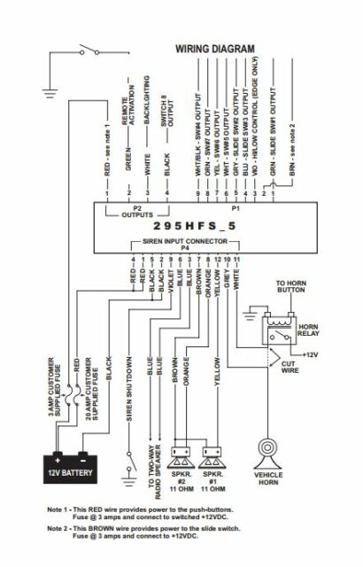 whelen 295hfsa5 wiring diagram  schematic wiring diagram