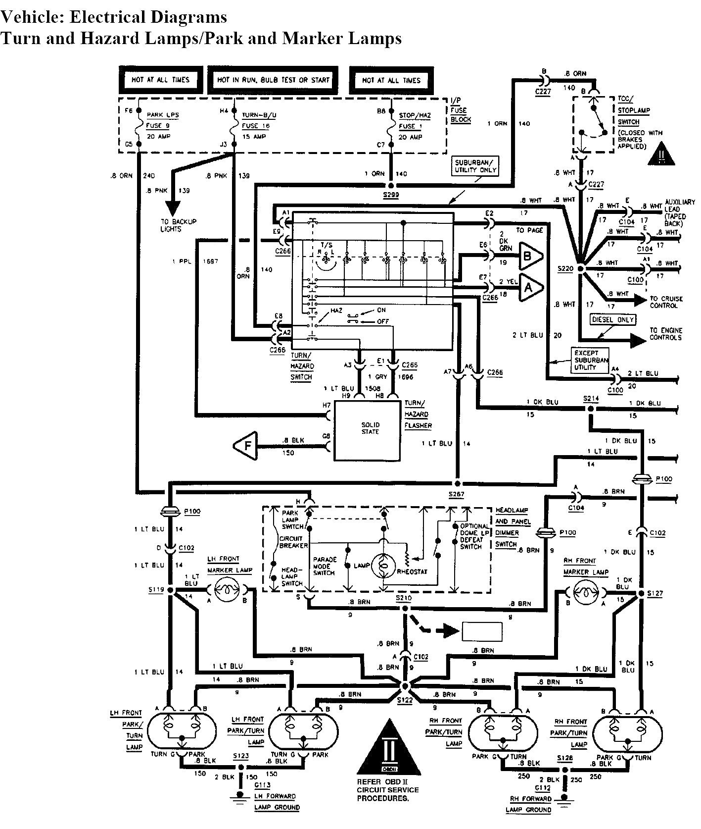 Tail Light Wiring Diagram For Chevy Truck