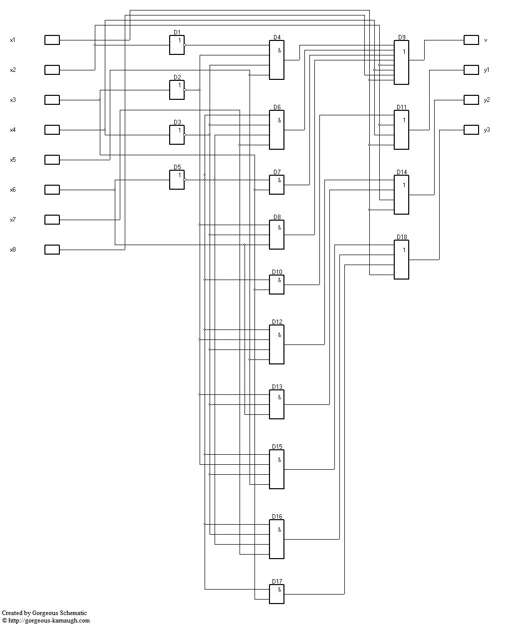 [NL_0549] Logic Diagram Of 8 To 3 Encoder Schematic Wiring