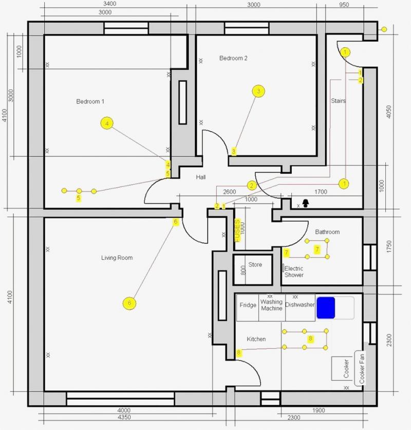 Bedroom Wiring Diagram / 3 Bedroom House Wiring Diagram 3