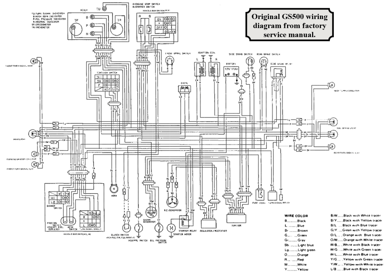 Suzuki Gs500 Wiring Diagram