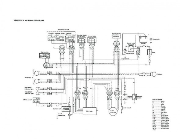 2000 yamaha 350 warrior wiring diagram  wiring diagram