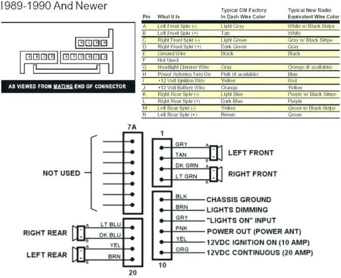1990 gmc sierra radio wiring diagram  auto wiring diagrams