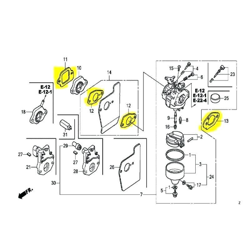 [KG_0379] Honda Engine Gcv160 Parts Diagram Schematic Wiring