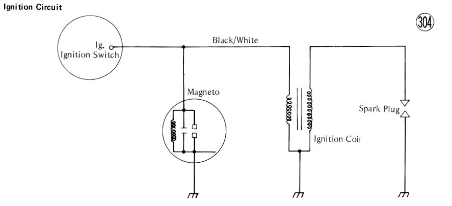 Ignition Coil Wiring Diagram Motorcycles / 12 Volt