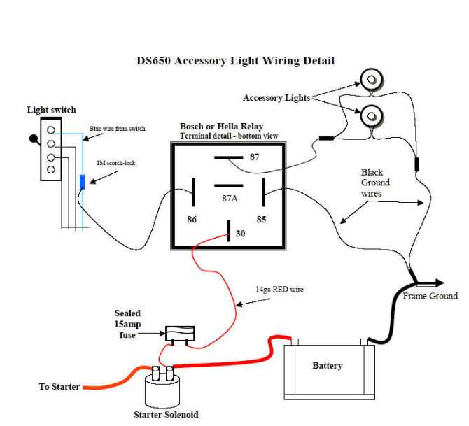 bombardier ignition switch wiring diagram  description