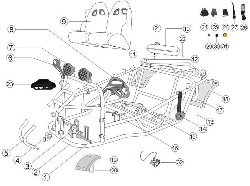 [RN_0447] Kandi 110 Go Kart Wiring Diagram Schematic Wiring
