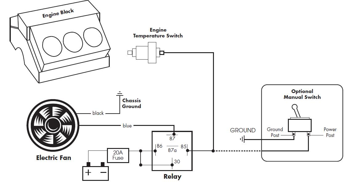 [SH_6610] Electric Fan Relay Wiring Schematic Wiring