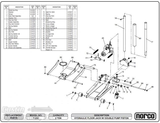 [ZO_4721] Hydraulic Jack Repair Parts List Free Diagram