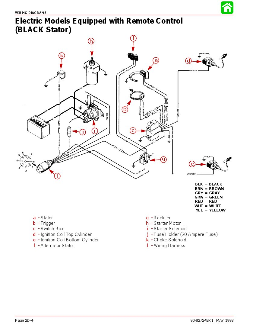 90 Hp Mercury Outboard Wiring Diagram / Original Mariner