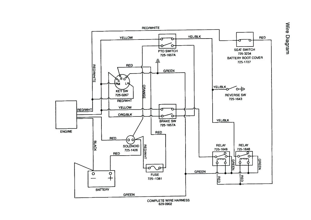 Huskee Lt4200 Wiring Diagram : Ignition Wiring Diagram For