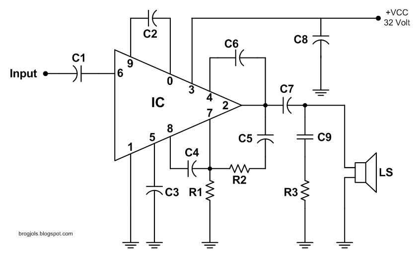 [GL_1137] 60W Af Amplifier With Stk 0060Ii Circuit Diagram