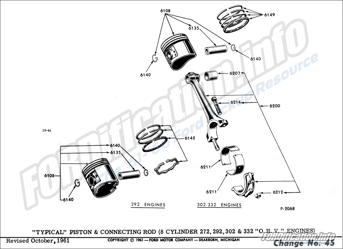 [SY_9666] Ford 292 Engine Diagram Schematic Wiring