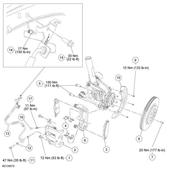 [DF_1850] Ford Brake Caliper Diagram Schematic Wiring