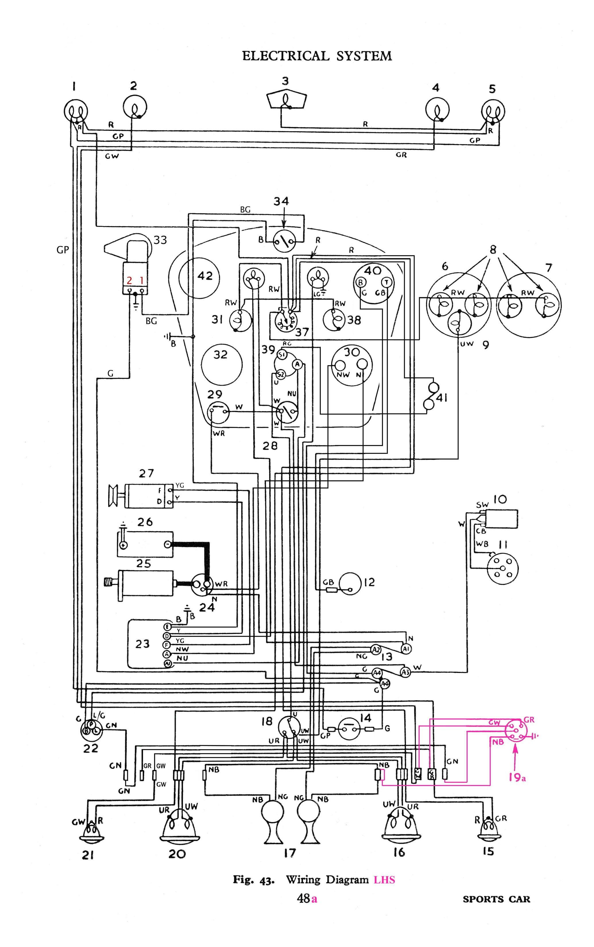 Wiring Diagram Triumph Tr3A : Diagram Triumph Tr3a Wiring