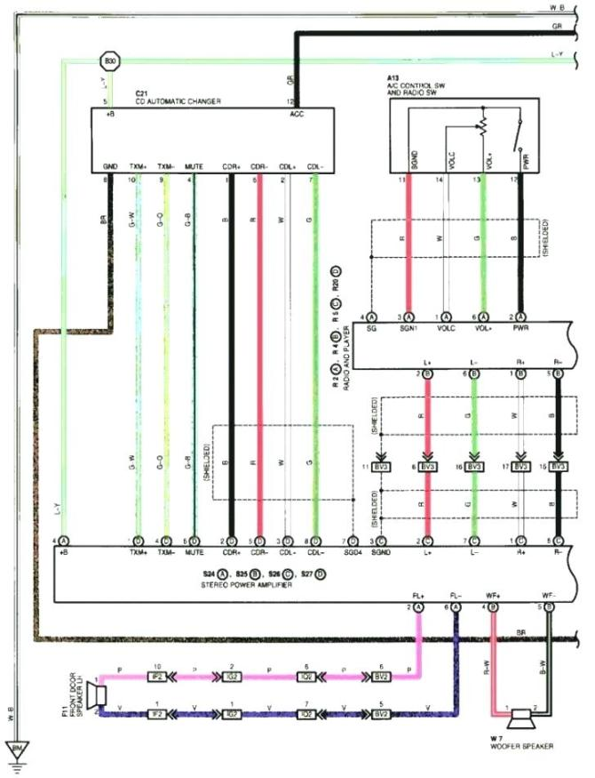 wiring diagram pioneer deh 150mp  trailer 6 wire connection