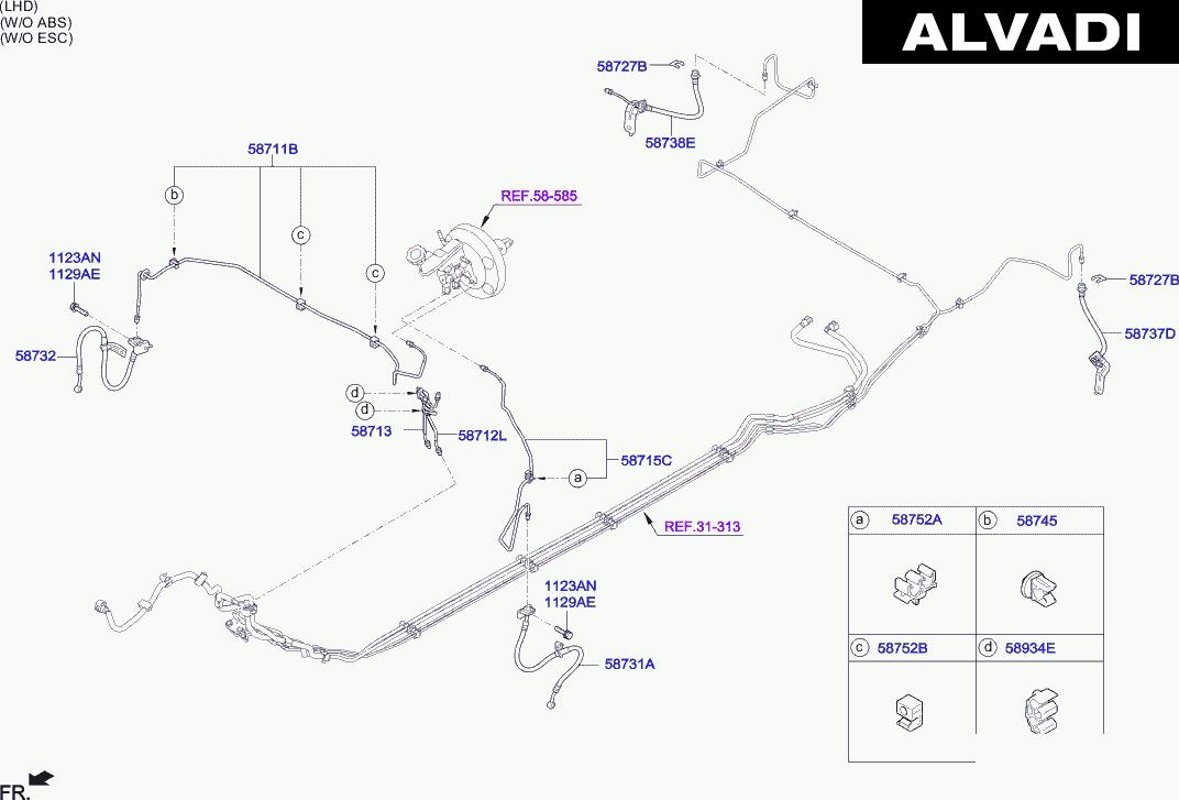 [BH_2411] Hyundai Brakes Diagram Schematic Wiring