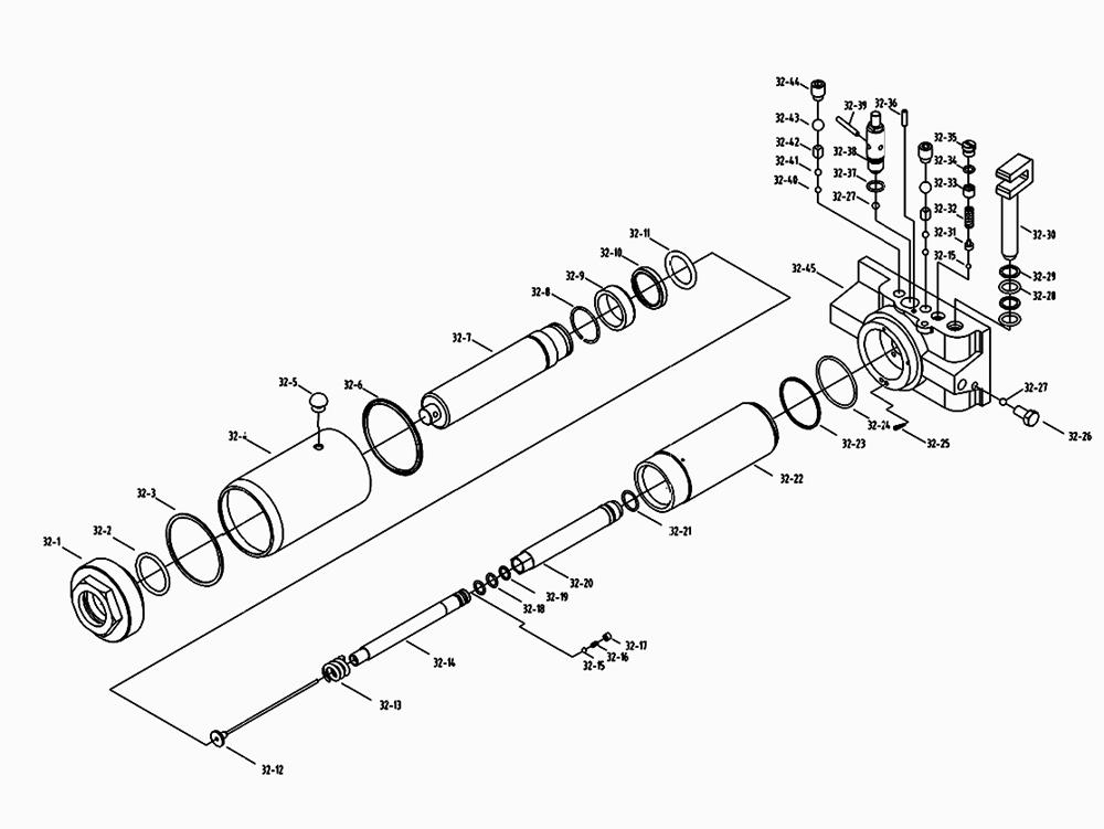 [VY_9824] Hydraulic Jack Repair Parts List Schematic Wiring